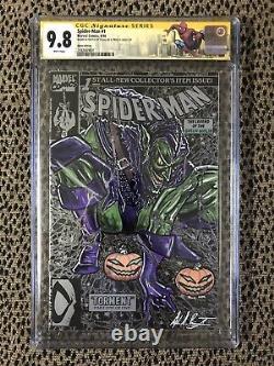 Ss Cgc 9.8 Spider-man #1 Original Art Ddpii Glowing Goblin Sketch