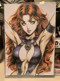 Stanley Artgerm Lau Original Art Sketch Of Starfire From DC Comics Teen Titans