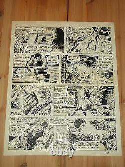 Steel Claw Valiant British Weekly Original Comic Art July 1968
