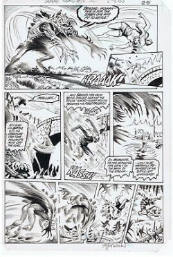 Steve Bissette John Totleben Saga of the Swamp Thing 16 Pg 25 Original Comic Art
