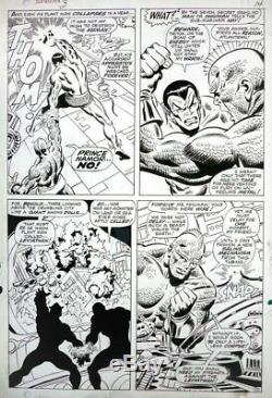 Submariner # 3 Original Art By John Buscema Action Page Marvel Comics