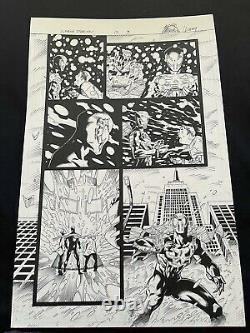 Superior Spider-Man #17 P. 8 Original Art by Ryan Stegman Spider-Man 2099