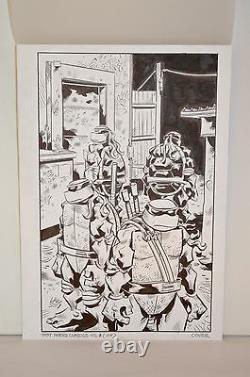 TMNT Classics Volume 8 Original Comic Cover Art Jim Lawson IDW Signed RARE