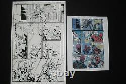 TODD NAUCK signed Original Art SPIDER-MAN DEADPOOL #12, page 5