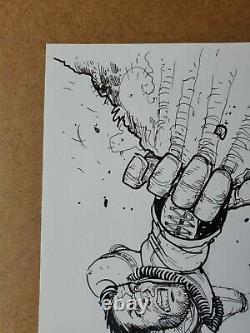 TONY MOORE Original Art FEAR AGENT Sketch 9x12 (Walking Dead) Image Comics