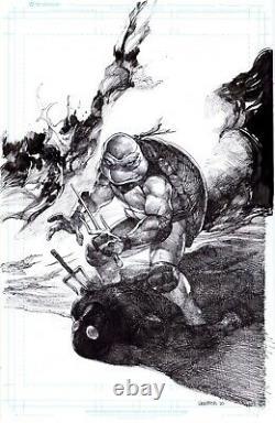 Tales Of Tmnt Ninja Turtles 36 Raphael Original Comic Art Pinup Paul Harmon
