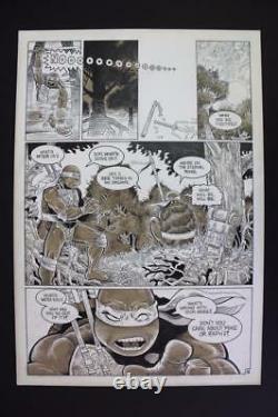 Teenage Mutant Ninja Turtles #37 Pg 18 (Original Art) 1991 Rick McCollum TMNT