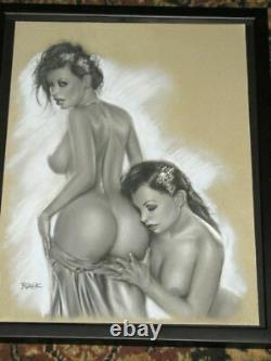 The Twins by DBLACK Deacon Black Original Comic Art Drawing Commission 12.5x18