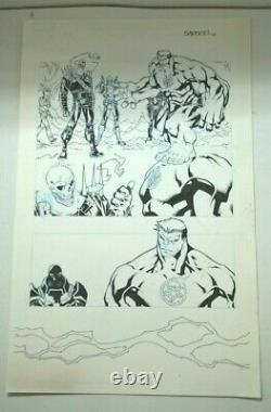 Thunderbolts # 21 Page 7 Original Art By Carlo Barberi