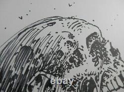 Tony Moore Sketch of the Day Walking Dead Zombie Bust TWD Original Art 2013