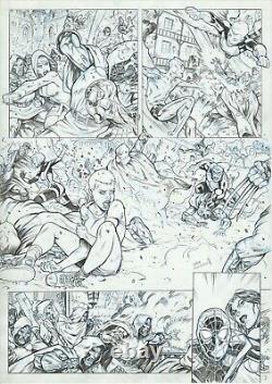 Ultimate X-Men- Spiderman vs. Doctor Doom Original Comic Art Domenech Signed