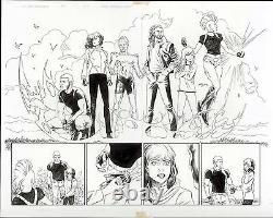 Ultimate X-men Catclsm #1 Pages 2-3 Original Comic Art Double Page Splash Marvel