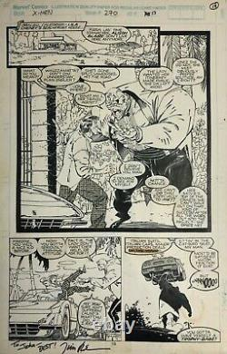 Uncanny X-Men #270 Original Comic Art Jim Lee 1990 Page 13 Guido Strong Guy