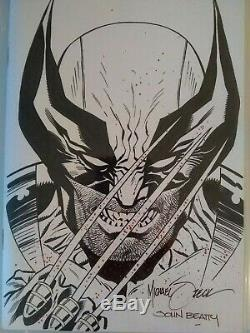 WOLVERINE Original Art by MIKE ZECK sketch CBCS like CGC