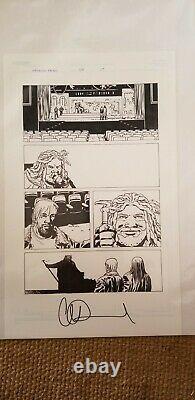 Walking Dead original comic art. First appearance of King Ezekiel
