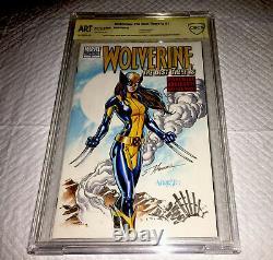 Wolverine #1 Blank Cover 9.8 SS OA CBCS ORIGINAL ART X23 HANNA & JOSE VARESE