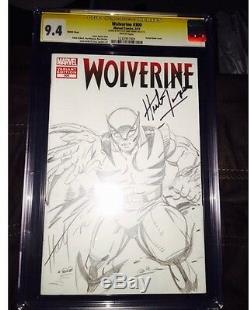 Wolverine 1 Cgc 9.4 Ss Hulk 181 Original Art Herb Trimpe Hand Sketch