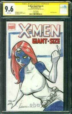 X Men Giant Size 1 CGC SS 9.6 Ale Garza Original art Mystique sketch Variant