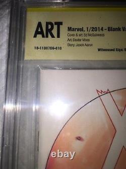 X-men #1 Blank Cbcs 9.8 Ss Original Hand Sketch Tucci & Jose Varese -ap 1 Art