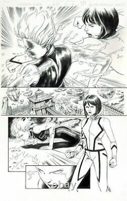 X-men #33 Kitty Pryde Vs Jean Grey! Original Art Page 1/2 Splash Ultimate Comics